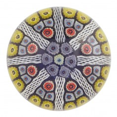 A Strathearn Eight Spoke Radial Paperweight c1970