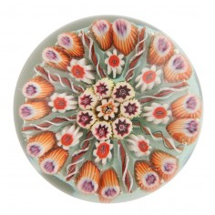 A Vasart Eight Spoke Radial Concentric Paperweight c1950