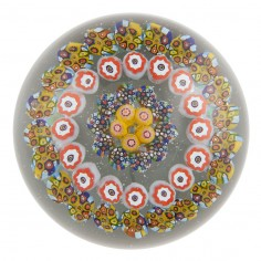 An Ysart Brothers Concentric Paperweight With Complex Canes Signed Made In Scotland  c1950