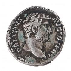 Emperor Hadrian Silver Denarius, Moneta Reverse, 137 AD