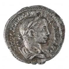 Emperor Severus Alexander Silver Denarius, Virtus, AD 225