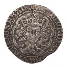 Henry V Silver Groat Frowning Bust Type Mullet on Right Shoulder Die Error, 1413-22