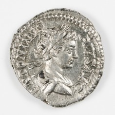 Emperor Caracalla, Silver Denarius, Rome Mint, Virtus AD 203