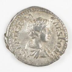 Geta as Caesar Silver Denarius, Rome Mint, AD 203