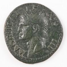 Agrippa (Caligula's Grandfather) AE As, Struck Under Caligula, Rome, AD 37-41