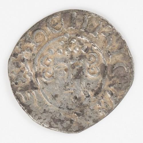 King John 'Lackland' Voided Short Cross Silver Penny, London, Henri, Class 5b1/5a2 Mule, 1199-1216