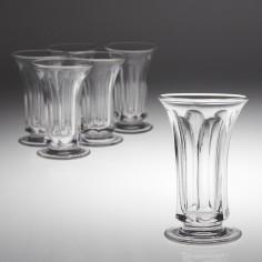 Six Victorian Jelly Glasses c1850