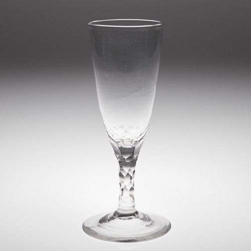 18th Century Facet Cut Stem Glass c1780