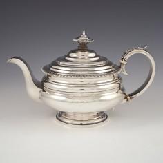 A Very Fine Etruscan Style Georgian Sterling Silver Teapot London 1825