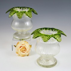 A Pair Of French or Bohemian Victorian Posy Vases c1890