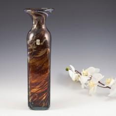 A Mdina Square Tortoiseshell Vase c1980