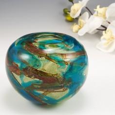 A Mdina Tiger Inside - Out Vase c1980
