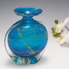 A Mdina Side Stripe Vase c1975