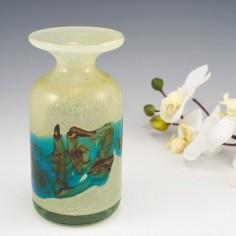 A Mdina Sea and Sand Flared Bottle Vase c1980's
