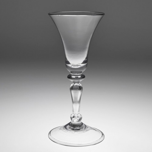 An 18th Century  Hollow Stem Balustroid Tax Glass c1750
