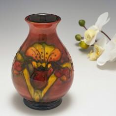 A Walter Moorcroft Pottery Flambe Vase c1955