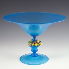 A Murano Footed Bowl With Applied Fruits c1930
