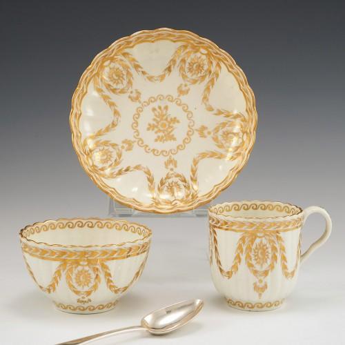 A  Worcester  Flight Period Porcelain Trio c1785