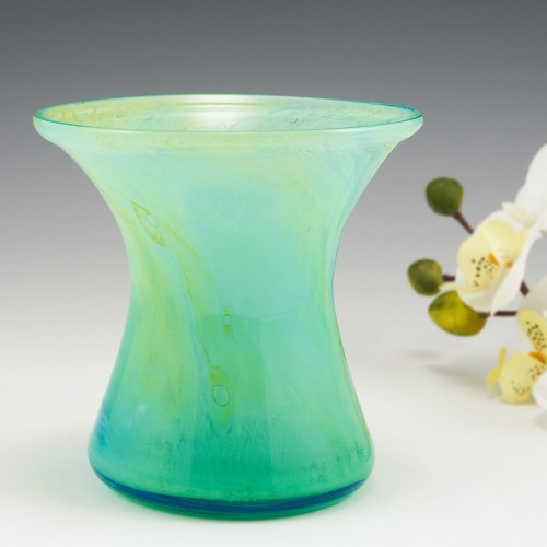 A Nazeing Cloudy Waisted Glass Vase c1930-50