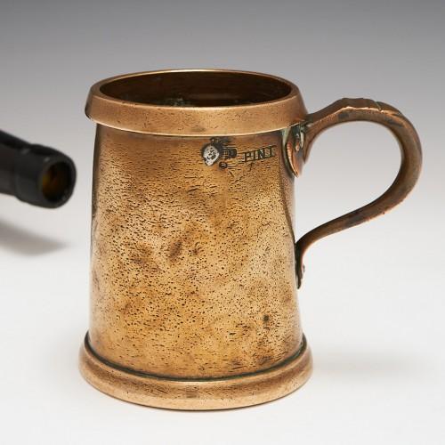 A Bronze Pint Measure With Copper Rim c.1890