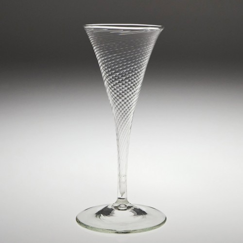 A Belgian Fine Rib Moulded Champagne Flute 1775