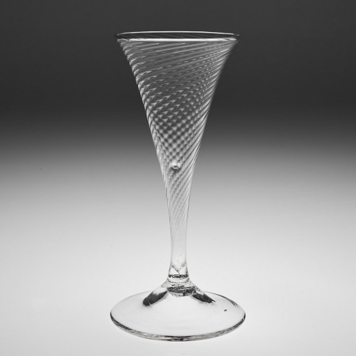 A Fine Rib Moulded Champagne Flute 1775