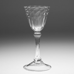 A Liegeois Wine Glass c1720