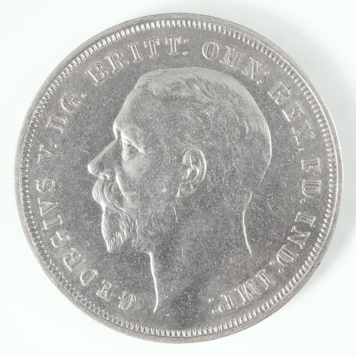 George V Silver 'Rocking Horse' Crown, Issued for the Silver Jubilee, 1935