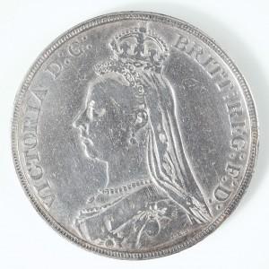 Victoria Silver Crown, Golden Jubilee Issue, 1889