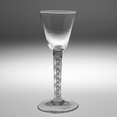 Opaque Twist Stem Wine Glass c1760