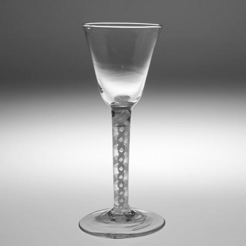 Opaque Twist Stem Wine Glass c1760