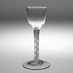 18th Century Opaque Twist Wine Glass c1760