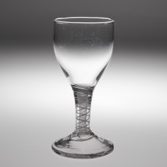 An Opaque Twist Stem Wine Glass c1760