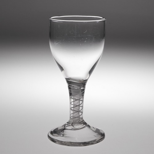 An Opaque Twist Stem Wine Glass c1760