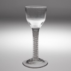 An 18th Century Opaque Twist Stem Wine Glass c1760