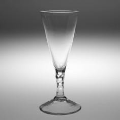 Facet Cut Stem Ale or Champagne Glass c1770