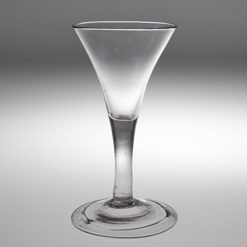 18th Century Wine Glass With Folded Foot c1750