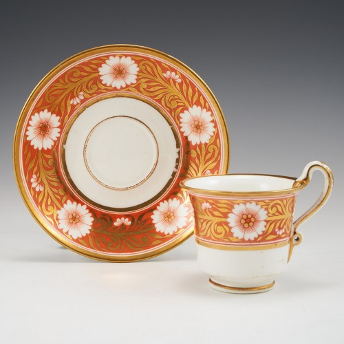 A Spode Pattern 878 Porcelain Coffee Cup and Saucer c1805