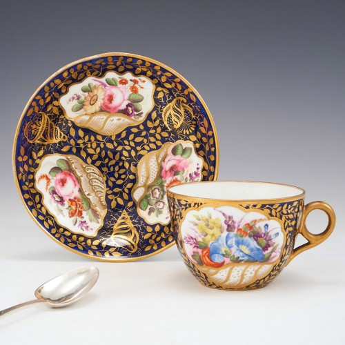 Minton Porcelain Serves Style Teacup and Saucer c1810