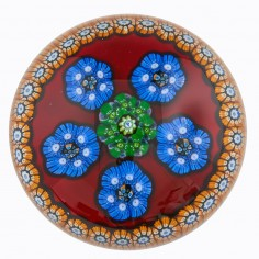 A Large Perthshire Millefiori Circlets Paperweight Annual Collection 1975C