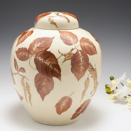 A Large Art Deco Pottery Ginger Jar and Domed Cover c1930