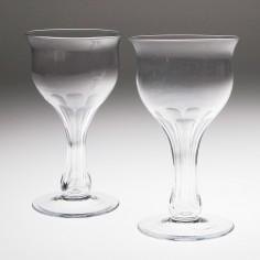 Pair Hollow Stem Champagne Glasses c1880