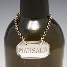 A Sterling Silver Marsala Decanter Label London 1794