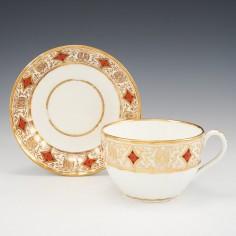 A Coalport Hamilton Fluted Breakfast Cup And Saucer c1805