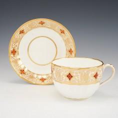 Coalport Porcelain Hamilton Fluted Breakfast Cup And Saucer c1805