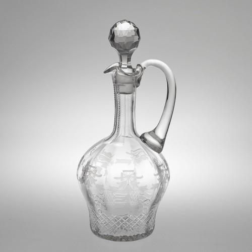 A Victorian Engraved Claret Jug c1875