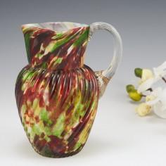A Welz Glass Jug c1890