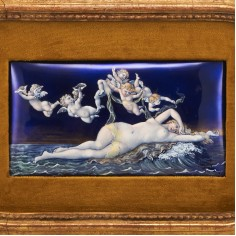 Limoges Enamel The Birth Of Venus  After Cabanel 1896
