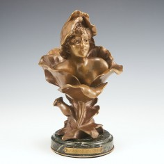 'Blossoming' A Bronze by Henri Godet 1863-1937
