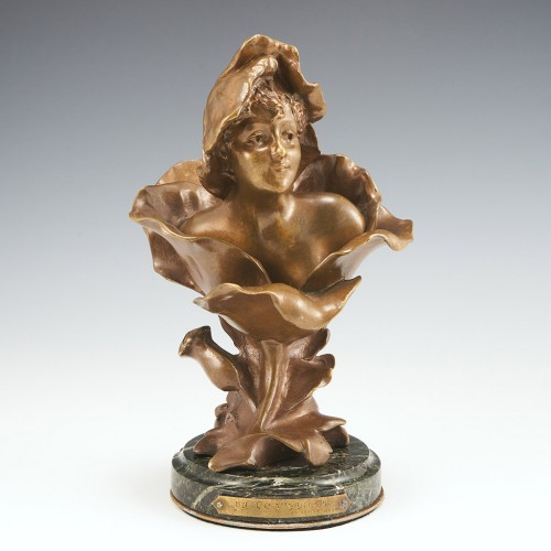 'Blossoming' A Bronze by Henri Godet 1863-1937